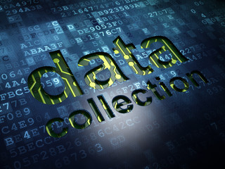 Information concept: Data Collection on digital screen