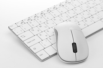 computer mouse on the keyboard