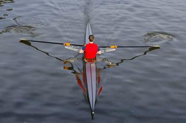 Boy rowing