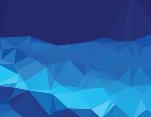 Background abstract triangle pattern deep blue world