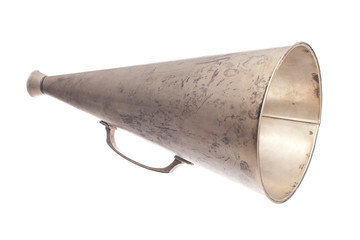old metallic megaphone