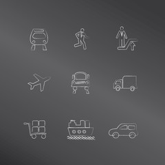 Transport icons,vector