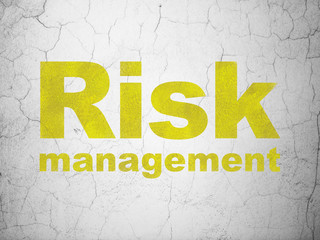 Finance concept: Risk Management on wall background