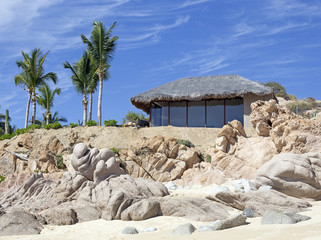 colorful villa on the beach