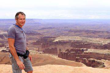 homme à canyonlands
