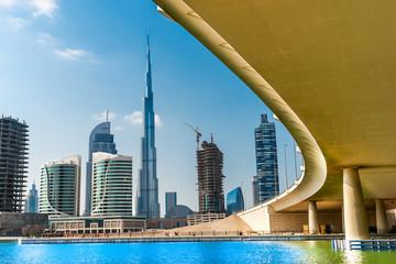 Printed roller blinds Dubai Dubai skyline with Burj Khalifa. UAE.