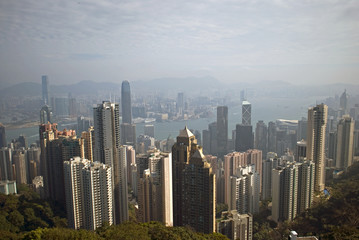 View from the Victoria Peak, Hongkong