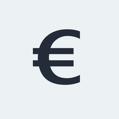 Euro Flat Icon with shadow. Vector EPS 10.