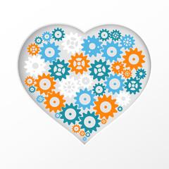 Gear heart.
