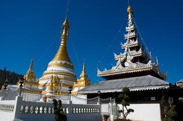 Wat Jong Klang and Wat Jong Kham temple, Mae Hong Son City, Nort