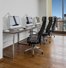 Office space with working places