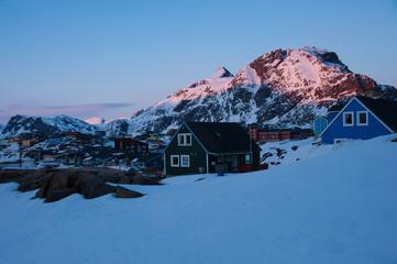 The last light in Sisimiut, Greenland.