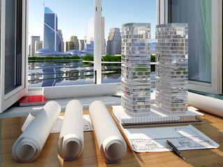 Model skyscraper