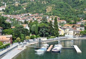 Lenno town at Como lake, Italy