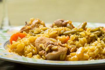and rabbit paella rice