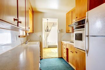 Bright small kitchen room