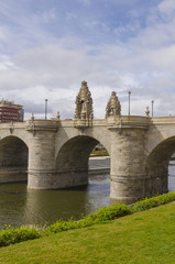Bridge of Toledo over river Manzanares