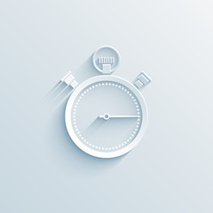 chronometer paper icon