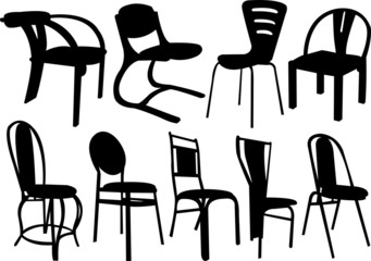 chairs collection - vector