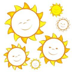 Set mit 6 verschiedenen Sonnen