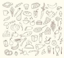 food and cooking vector set