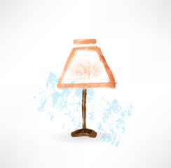 electric lamp grunge icon.