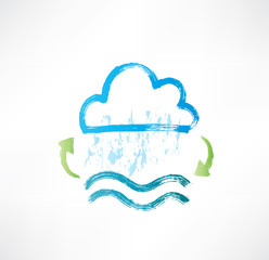 Brush water cycle icon.