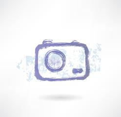 Brush camera icon. Photo.