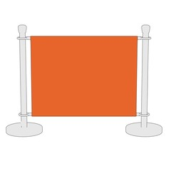 cartoon image of stand barrier