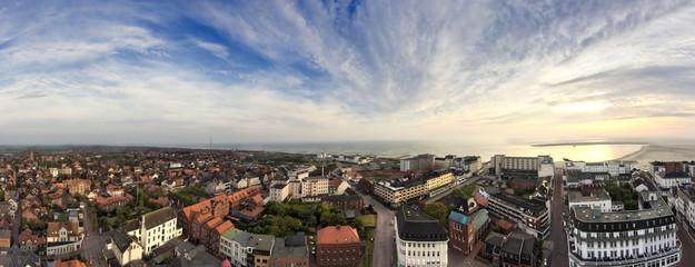 Fototapete - Borkum Panorama