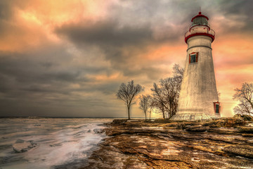 Canvas Prints Lighthouse Marblehead Lighthouse HDR