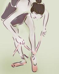 Ballerina. Ballet Dancer Drawing