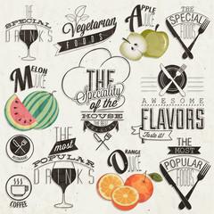 Retro vintage style restaurant menu designs