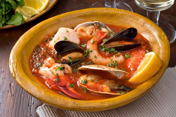 Poster Coquillage Seafood Stew