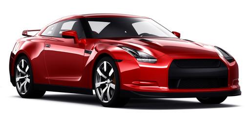 Red super car