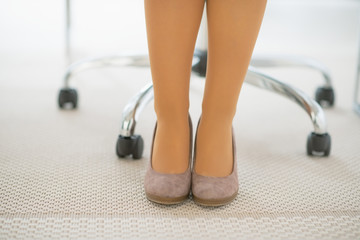 Closeup on business woman legs