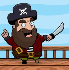 Foto op Textielframe Wild West Pirate Ship