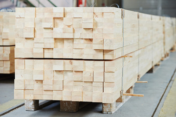 Set of wood lumber materials