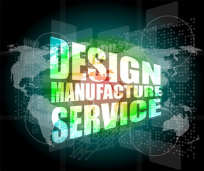 design manufacture service words on digital binary touch screen