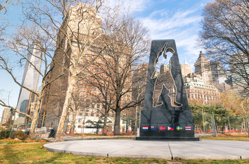 Universal Soldier monument in Battery Park - New York City