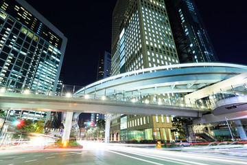 Staande foto Tokyo Tokyo city with car light