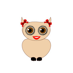 Pretty owl with red bow