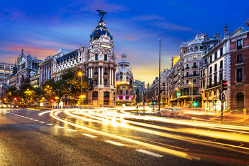 Foto op Plexiglas Madrid Madrid city center, Gran Vis Spain