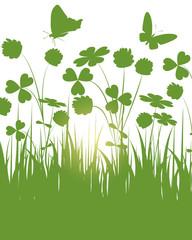 frühling,frühlingswiese,grün,floral,klee,kleeblatt,glück,vektor,