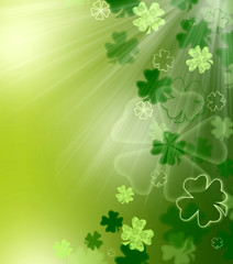 St. Patrick's green abstract background