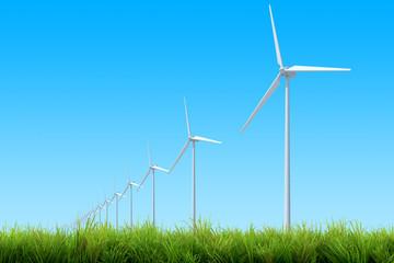 wind turbine green grass