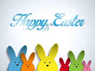 Happy Easter Rabbit Bunny  Colors