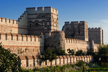 City walls of Istanbul, Turkey