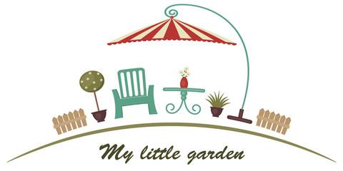 Retro garden illustration