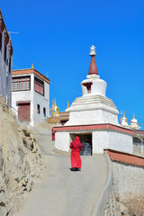 Lama in Thikse Monastery ,India